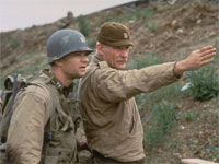 Dale Dye and Tom Hanks in Saving Private Ryan
